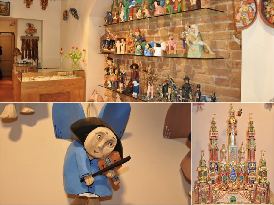Drewniane ręcznie robione anioły i szopki bożonarodzeniowe doskonałe na upominek